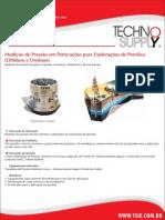 Medição de pressão em Perfurações para exploração de petróleo (Offshore e Onshore)