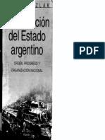 Ozlak, Oscar - La formación del Estado Argentino
