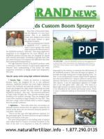 Washington farmer designs his own fertilizer sprayer