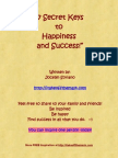 7 Secret Keys to Happiness and Success