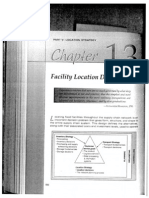 Chapter 13 Facility Location Decisions