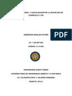 EVALUACIÓN INTEGRAL Y SOCIALIZACIÓN DE LA DISCIPLINA DE CURRÍCULO Y PEI