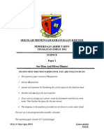 science form 4 - final exam