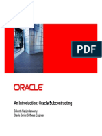 Oracle Subcontracting