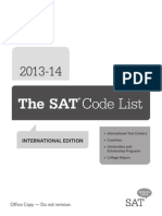 Sat Code List International