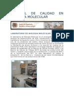 Control de Calidad en Biologia Molecular