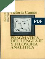 162671212 Victoria Camps Pragmatica Del Lenguaje y Filosofia Analitica