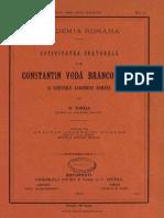 Iorga Nicolae - Activitatea culturală a lui Constantin Vodă Brîncoveanu şi scopurile Academiei Române