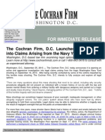 The Cochran Firm, D.C. Launches Investigation into Claims Arising from the Navy Yard Shooting