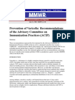 Varicella Prevention