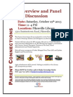 Parent Connections - Regional Events - October 19 2013 - Pikesville Library