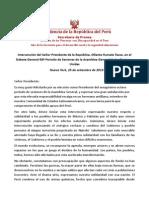 Discurso de Ollanta Humala en la ONU