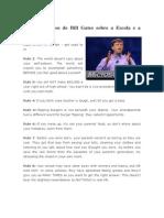 11 pensamentos de Bill Gates sobre a Escola e a Educação