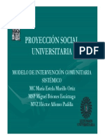 Proyeccion Social Universitaria