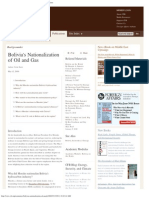 Bolivia's Nationalization of Oil and Gas - Council on Foreign Relations