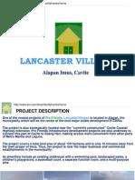 Lancaster Villages Presentation