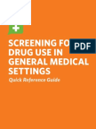 Screening for drug abuse in healthcare settings