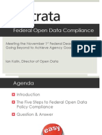 Acheive Federal Open Data Policy Compliance - Slides