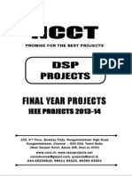 2013 IEEE DSP Project Titles, NCCT - IEEE 2013 Matlab Project List