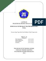 Laporan Praktikum Ttl Job 9 Hubungan Kumparan Transformator 3 Fasa