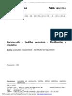 NCh169 Ladrillos cerámicos - Clasificación y requisitos