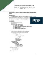 Os Lab Manual II a(ECM)