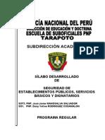 Asignatura de Seguridad de Establecimientos Publicos-2013