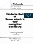 MIR - Bugrov Y. S. and Nikolsky S. M. - Fundamentals of Linear Algebra and Analytical Geometry - 1982