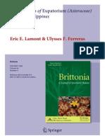 Eupatorium leonardii - Brittonia 2012