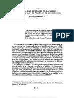02. DANIEL INNERARTTY, Hacia una ecología de la razón. Consideraciones sobre la filosofía de la postmodernidad