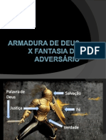 Armadura de deus x fantasia do adversário
