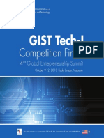 GIST Tech-I 2013 Finalist Event Brochure