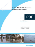 Assessing the Viability of Flood Insurance in Canada