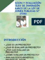 Formulación y evaluación de SNIP