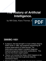 the history of artificial intelligence