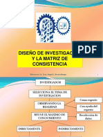 DISEÑO Y MATRIZ DE CONSISTENCIA 2013