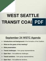 West Seattle Transit Coalition launch meeting slides