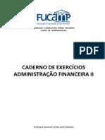 Caderno de Exercicios Adm Financ i 2010