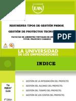 RESUMEN TIPOS DE GESTIÓN PMBOK ESPAÑOL_INGLES