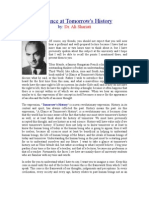 A Glance at Tomorrow's History - Ali Shariati