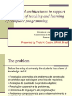 Pedagogical architectures to support the process of teaching and learning of computer programming