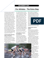 Supplements for Athletes - The extra step
