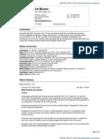 Rich Blumer VisualCV Resume