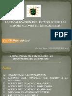 fiscalización del Estado a la exportación de mercaderías.(18-09-13)