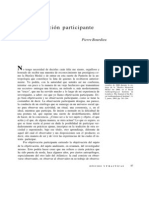 Bourdieu, Pierre - Objetivacion Participante