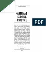 Habermas i Sudbina Estetike