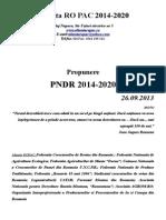 Alianta RO PAC 2014-2020. Propunere PNDR 2014-2020