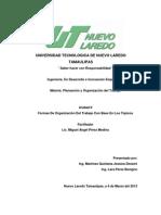 Formas De Organización Del Trabajo Con Base En Los Tópicos