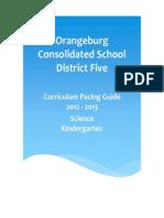 Kindergarten Science Pacing Guide 12-13