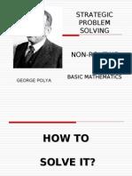 Polya Model (strategic problem solving)